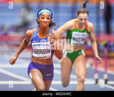 Birmingham, UK. 2nd March, 2018. during IAAF World Indoor Championships at Arena Birmingham on Friday, 02 March - Stock Photo
