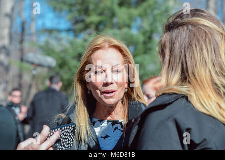 Charlotte, NC. 2 March 2018. American television personality Kathie Lee Gifford greets fellow attendees at the Billy - Stock Photo
