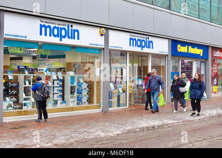 Ipswich, Suffolk. 3rd March 2018. UK News: Maplin electronic goods store still trading despite reported financial - Stock Photo