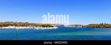 Swan Yacht Club on the Swan River as viewed from Mosman Park. - Stock Photo