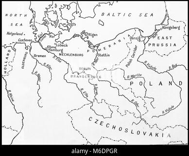 Second world war wwii czechoslovakia prague uprising may 1945 pre world war two map of germany surrounding countries rivers and their borders in gumiabroncs Choice Image