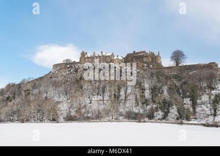 Stirling Castle in winter, Scotland, UK