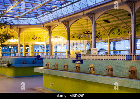 Famous art nouveau style Hall des Sources or Fountain Hall in Vichy, France, known for its thermal waters and health - Stock Photo