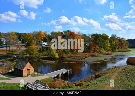 Salem Maritime and Saugus Iron Works . - Stock Photo