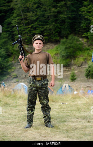 July 16, 2017, this holiday is held every year in the tract near the village of Lipa, Ukraine - Stock Photo