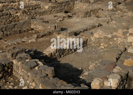 Ancient archeological finds from Biblical times at Magdala Archeological site located on the shore of the sea of - Stock Photo
