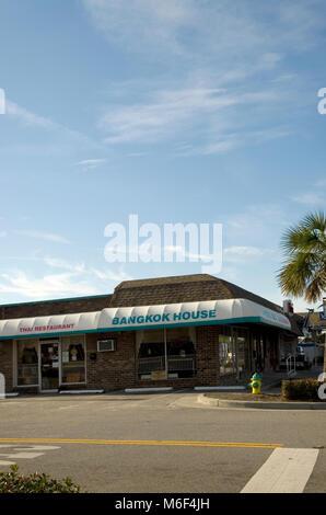 Bangkok House Thai Restaurant Myrtle Beach SC USA. - Stock Photo