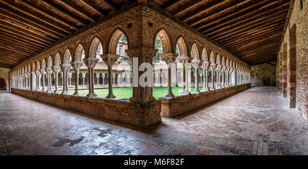 Moissac Abbey was a Benedictine and Cluniac monastery in Moissac, Tarn-et-Garonne in south-western France. A number - Stock Photo