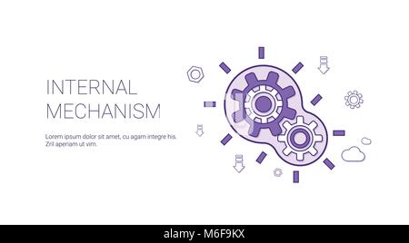 Internal Mechanism Template Web Banner With Copy Space - Stock Photo