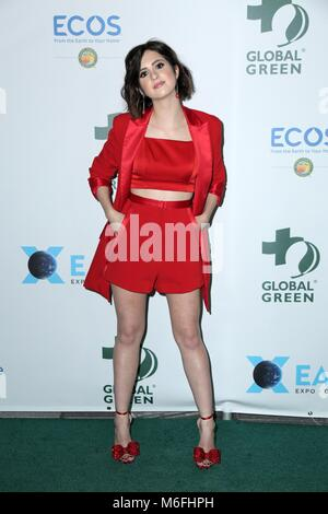 Los Angeles, CA, USA. 28th Feb, 2018. Laura Marano at arrivals for 15th Annual Global Green Pre-Oscar Gala, NeueHouse - Stock Photo