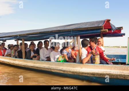 Mawlamyine (Mawlamyaing, Moulmein): ferry boat, Thanlwin (Salween) River, , Mon State, Myanmar (Burma) - Stock Photo