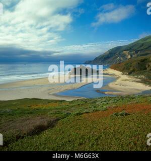 Little Sur River, Big Sur, Monterey County, California - Stock Photo