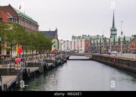 Copenhagen - October 17, 2016: View to the Borsen (Børsen) building on October 17, 2016. - Stock Photo
