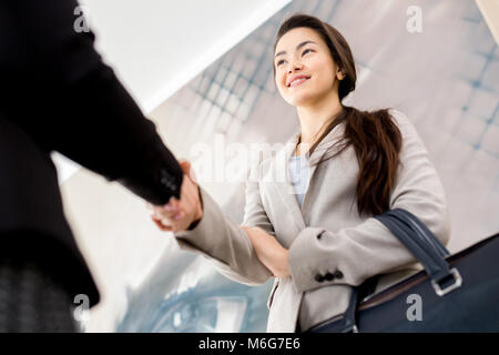 Completion of Productive Negotiations - Stock Photo