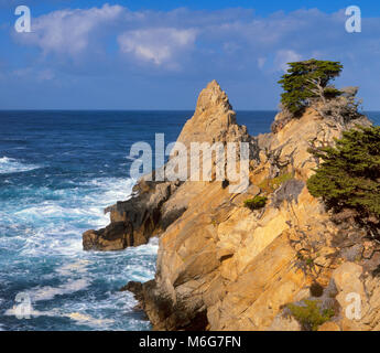 The Pinnacle, Point Lobos State Reserve, Big Sur, Monterey County, California - Stock Photo
