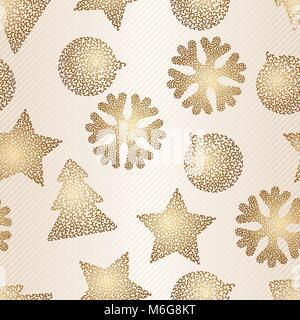 Christmas and Holidays seamless pattern. Vector illustration - Stock Photo