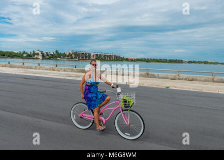 USA, Florida, Key West, solskensstaten, semester, varmt, soligt, fritid, njuta, ledighet, minnesmärken, Sunshine, - Stock Photo