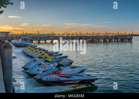 USA, Florida, Key West, solskensstaten, semester, varmt, soligt, fritid, njuta, ledighet, minnesmärken, jetski, - Stock Photo