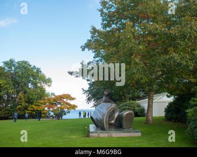 Louisiana Museum sculpture park - Stock Photo