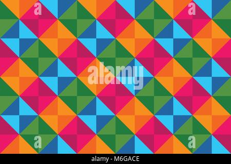 Colorful Diamonds Seamless Pattern Vector Graphic Background Design - Stock Photo
