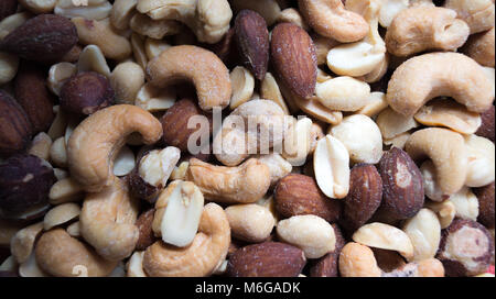 Mixed Nuts Up Close - Stock Photo