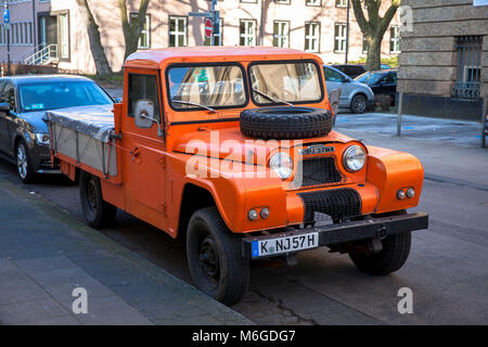 an Austin Gipsy Pick-Up, an off-road vehicle by the Austin Motor Company from the 1950s and 1960s, Cologne, Germany. - Stock Photo