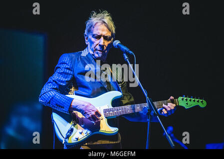 Turin, Italy. 03rd Mar, 2018. The Welsh musician, composer, singer, songwriter and record producer John Cale performing - Stock Photo
