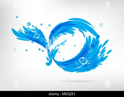 Sign water splash - Stock Photo