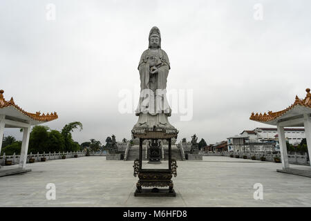 Tallest statue of Avalokitesvara or Goddess of Mercy or Quan Yin in south east Asia - Stock Photo