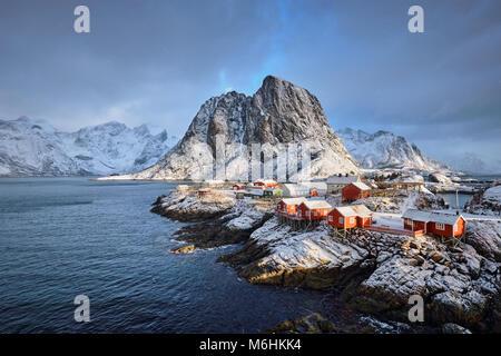 Hamnoy fishing village on Lofoten Islands, Norway  - Stock Photo