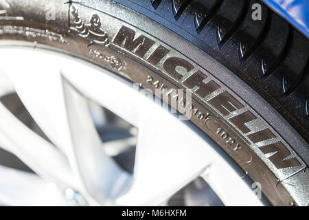 company logo of the french tyre manufacturer michelin with seat in stock photo 52310420 alamy. Black Bedroom Furniture Sets. Home Design Ideas