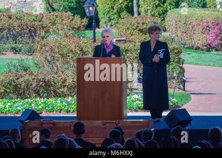 Billy Graham Funeral and Memorial Week in Charlotte, North Carolina, 2018. - Stock Photo