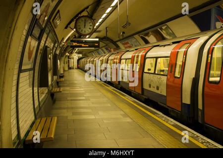 Ghost Train, Kennington Underground Station, London, England, UK; - Stock Photo