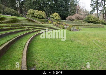 Outdoor theater at the International Rose Test Garden Washington ...