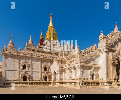 Ananda Pagoda, Ananda Temple at Bagan, Myanmar (Burma), Asia in February - Stock Photo