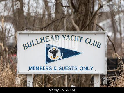 The bullhead yacht club in southampton, ny - Stock Photo
