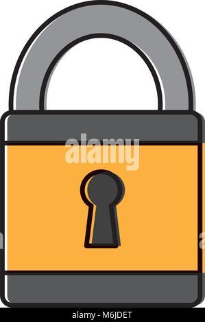 security data safety information digital padlock - Stock Photo