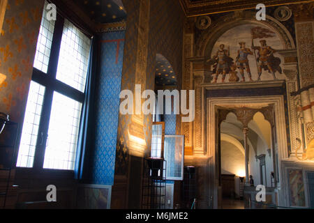 Italy, Florence - May 18 2017: the view of the Sala dei Gigli in Palazzo Vecchio on May 18 2017 in Florence, Italy. - Stock Photo