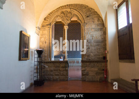 Italy, Florence - May 18 2017: the view of the Sala della Cancelleria in Palazzo Vecchio on May 18 2017 in Florence, - Stock Photo