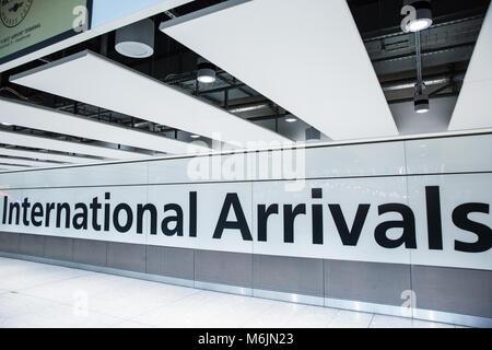 International Arrivals Area Terminal 5 Heathrow Airport
