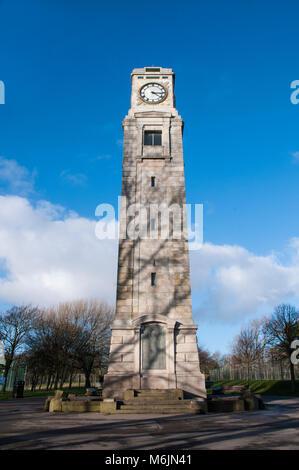 Clock Tower in Stanley Park Blackpool Lancashire England UK. - Stock Photo