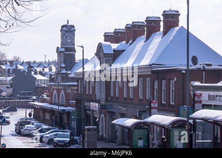 Royal Tunbridge Wells Spa town in West Kent Railway station with South Eastern Trains on the London to Hastings - Stock Photo