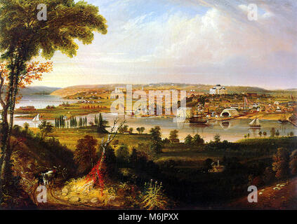 City of Washington from Beyond the Navy Yard, Cooke, George, 1833. - Stock Photo