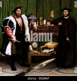 The Ambassadors 1533, Holbein, Hans, the Younger, 1533. - Stock Photo