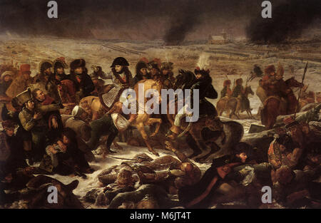 Napoleon on the Battlefield at Eylau on 9 February 1807, Gros, Baron Antoine-Jean, 1807. - Stock Photo
