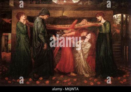 Dante's Dream at the Time of Death of Beatrice, Rossetti, Gabriel Charles Dant, 1871. - Stock Photo
