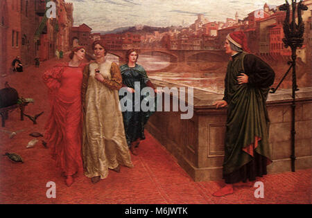 Dante and Beatrice, Holiday, Henry, 1883. - Stock Photo