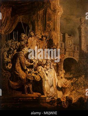 Jesus is Shown to the People, Rembrandt, Harmensz van Rijn, 1634. - Stock Photo
