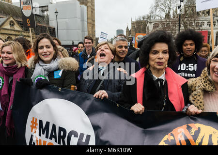 London, UK. 4th March, 2018. (L-R) Justine Greening MP, Victoria Atkins MP, Shadow Foreign Secretary Emily Thornbery, - Stock Photo