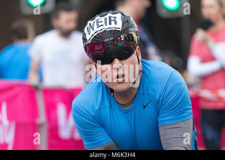 London, UK. 4th March 2018. David Weir at the start of the 2018 Vitality Big Half Marathon. Credit: Vickie Flores/Alamy - Stock Photo